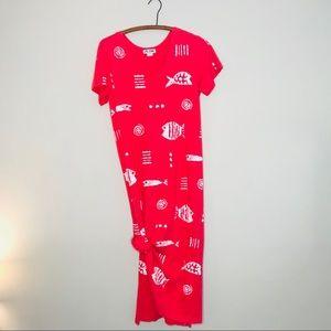 Vintage Retro 90's Tropical Cotton Maxi Dress